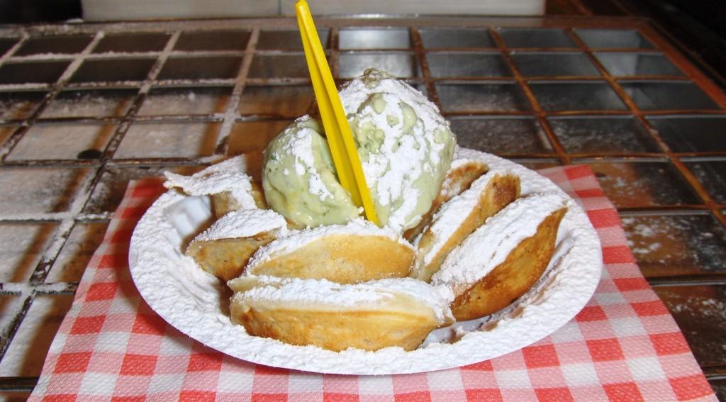 typical dutch pancakes in volendam