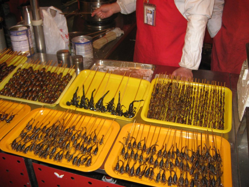 Insect varieties at Beijing Snack Street