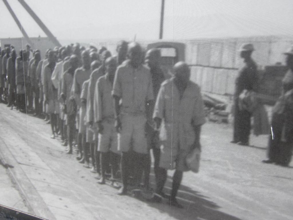 Prisoners arriving
