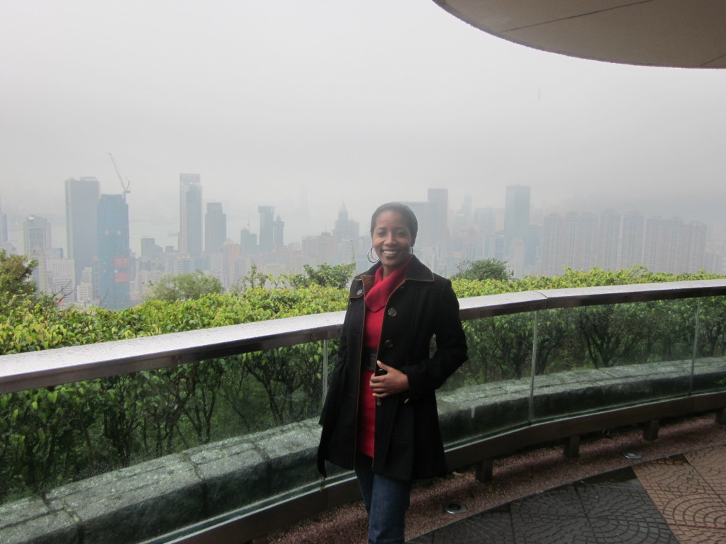 View from Victoria Peak on a cloudy day