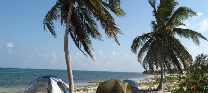 Camping in Cayman at Easter