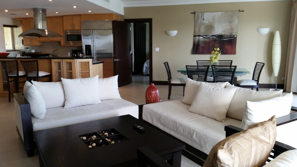 Living area in The Residences