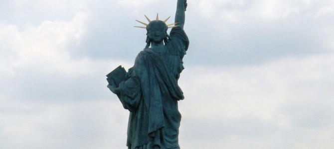 Statues of Liberty outside of New York