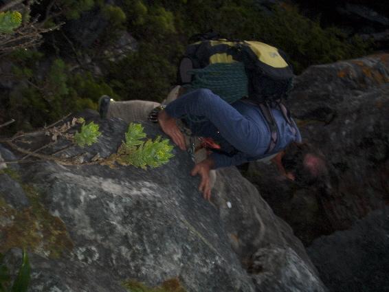 Fearless hiker