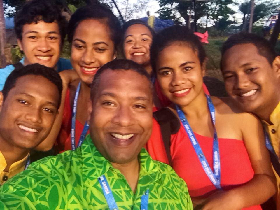 Smiling Samoan faces