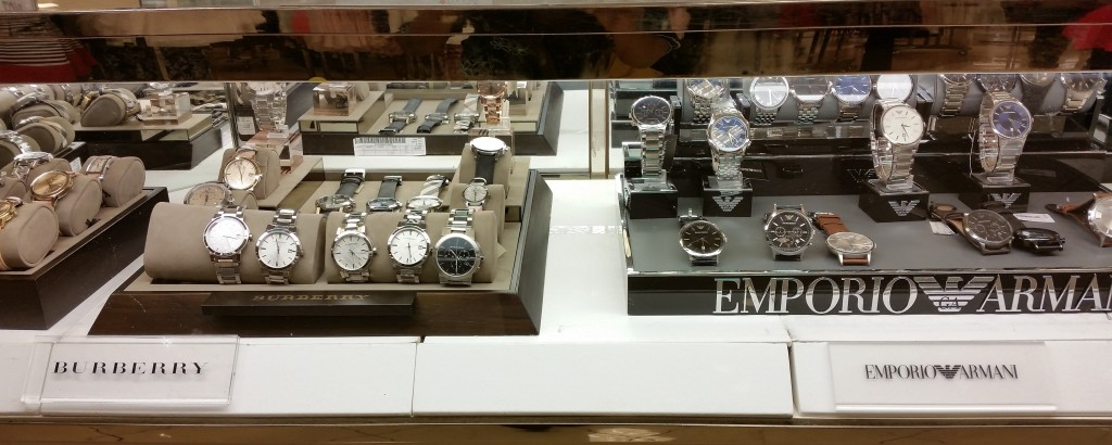 Genuine designer watches in your local Macy's (retail store chain)