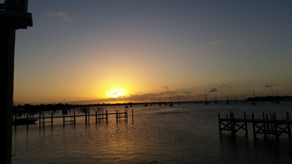 The sunset at Snappas