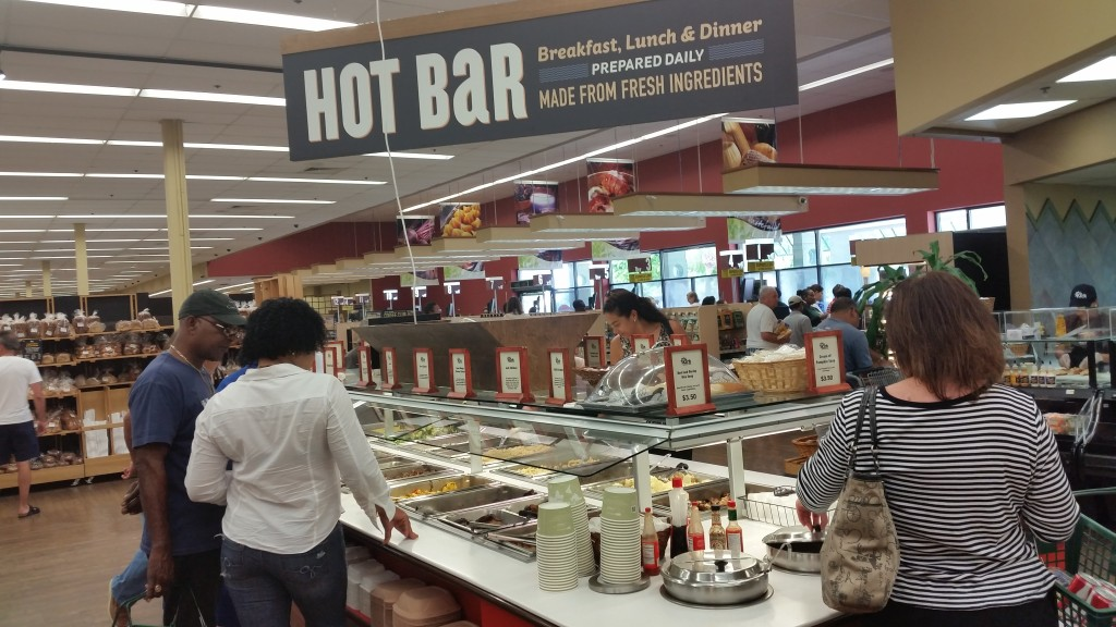 Hot food bar in Kirk supermarket , Grand Cayman