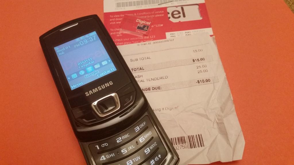 Phone and local SIM Card