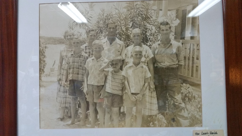 Joe Albury (front row, second from left) as a young boy surrounded by his famaily