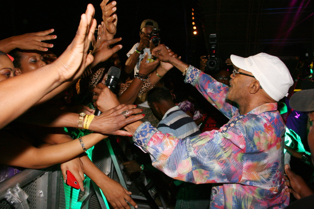 Singer Beres Hammond feeling the love from fans at at performance at Reggae Sumfest