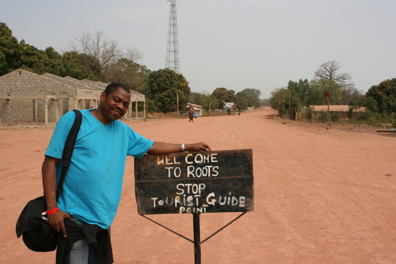 Steve rests awhile after passing through 14 villages to get to Kunta KInteh Island in Gambia