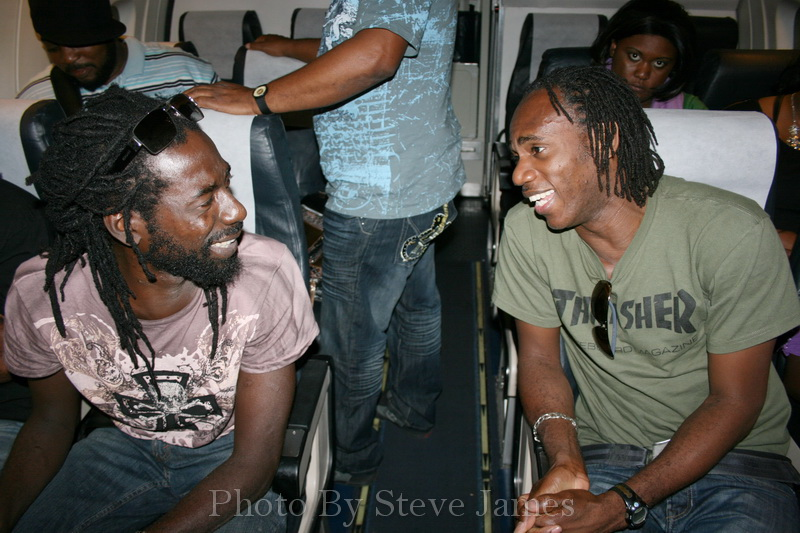 An exclusive picture of Buju Banton returning to Jamaica after his last concert in the Bahamas prior to his arrest