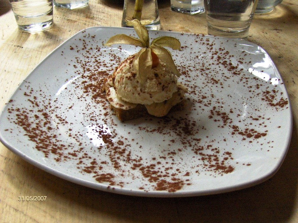 Banoffee pie, a traditional English treat made from bananas, cream and toffee from boiled condensed milk,