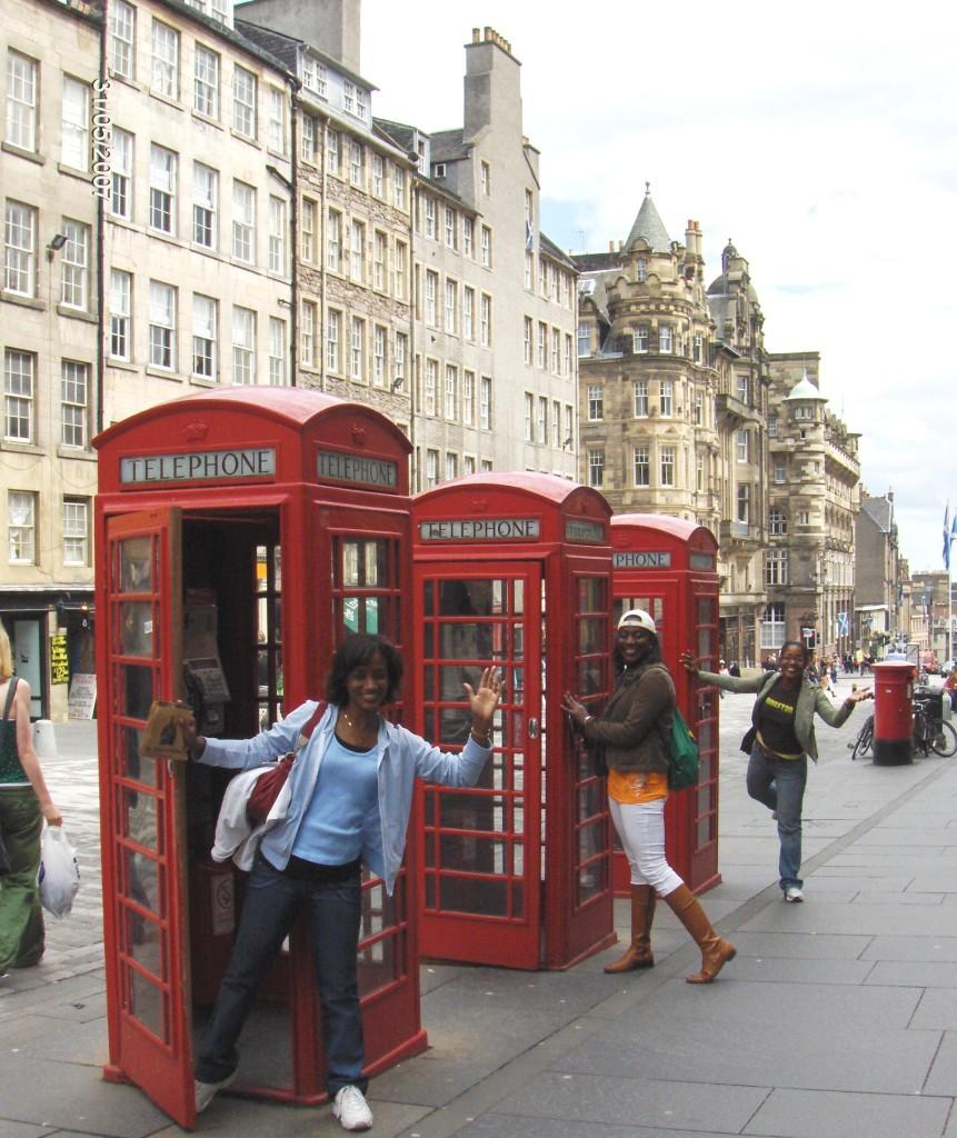 Having a little fun on Princes Street