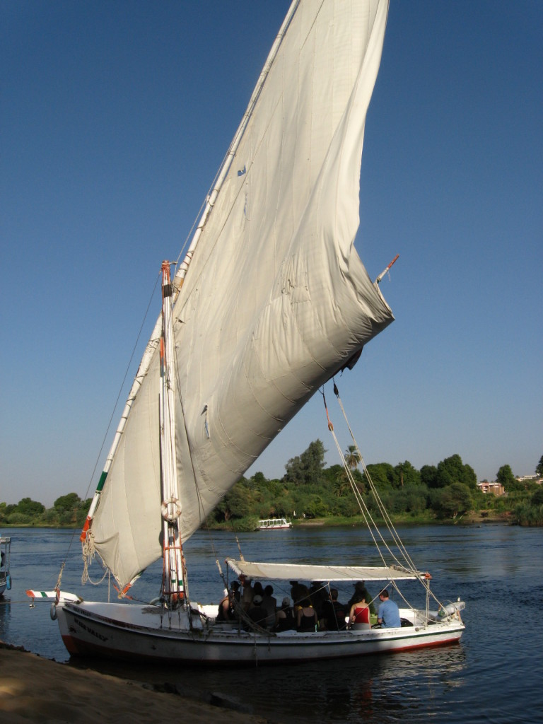 Beautiful sails of the felucca