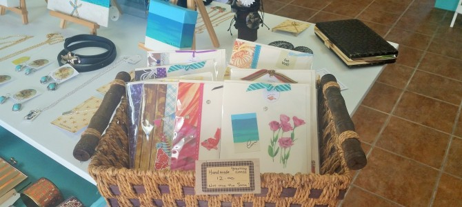 Shopping for hand-made products in the Turks and Caicos