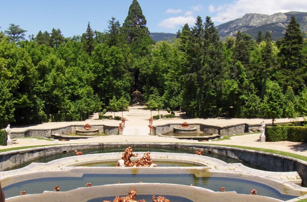 la granja and its beautiful fountains