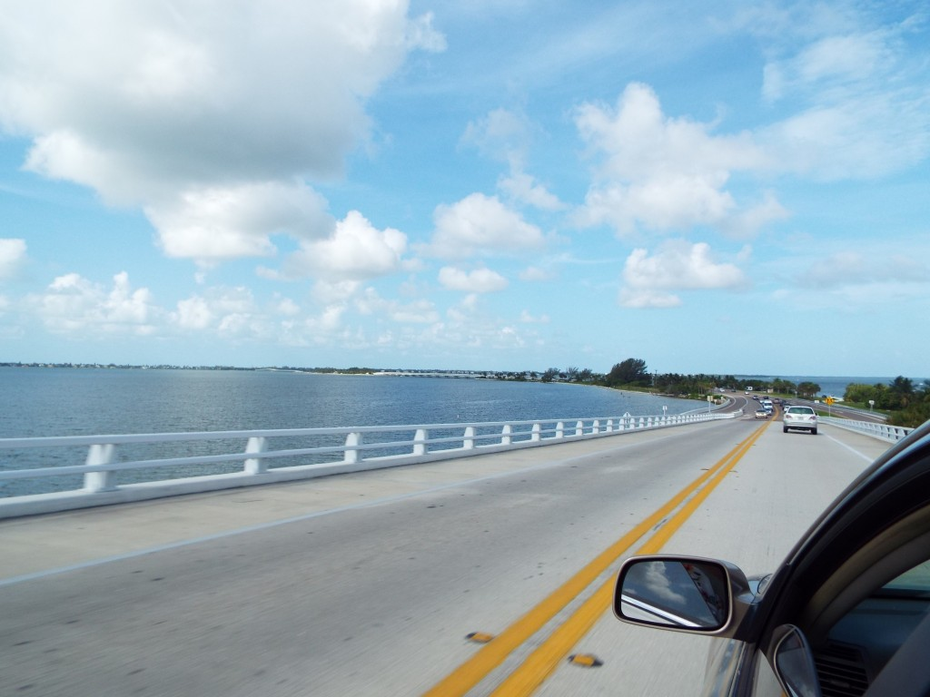 The picturesque view driving over to Sanibel