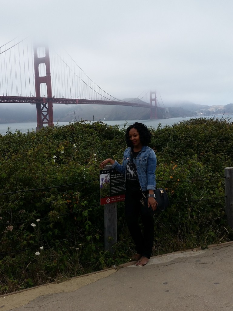 In front of the Golden Gate Bridge in San Francisco