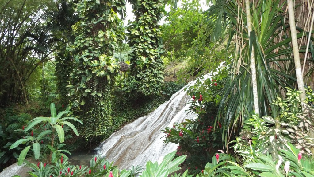 One of the many waterfalls at Shaw Park Gardens in Ocho Rios