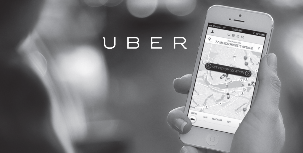 The Uber app is simple to download and easy to navigate. (Image sourced from INternet)
