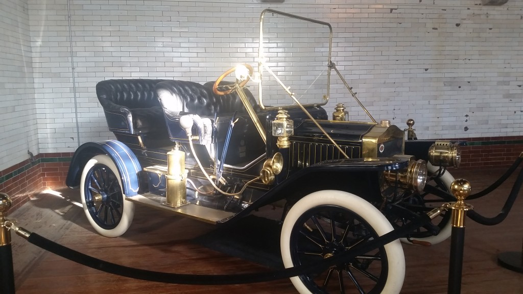 One of the three classic cars in the carriage house