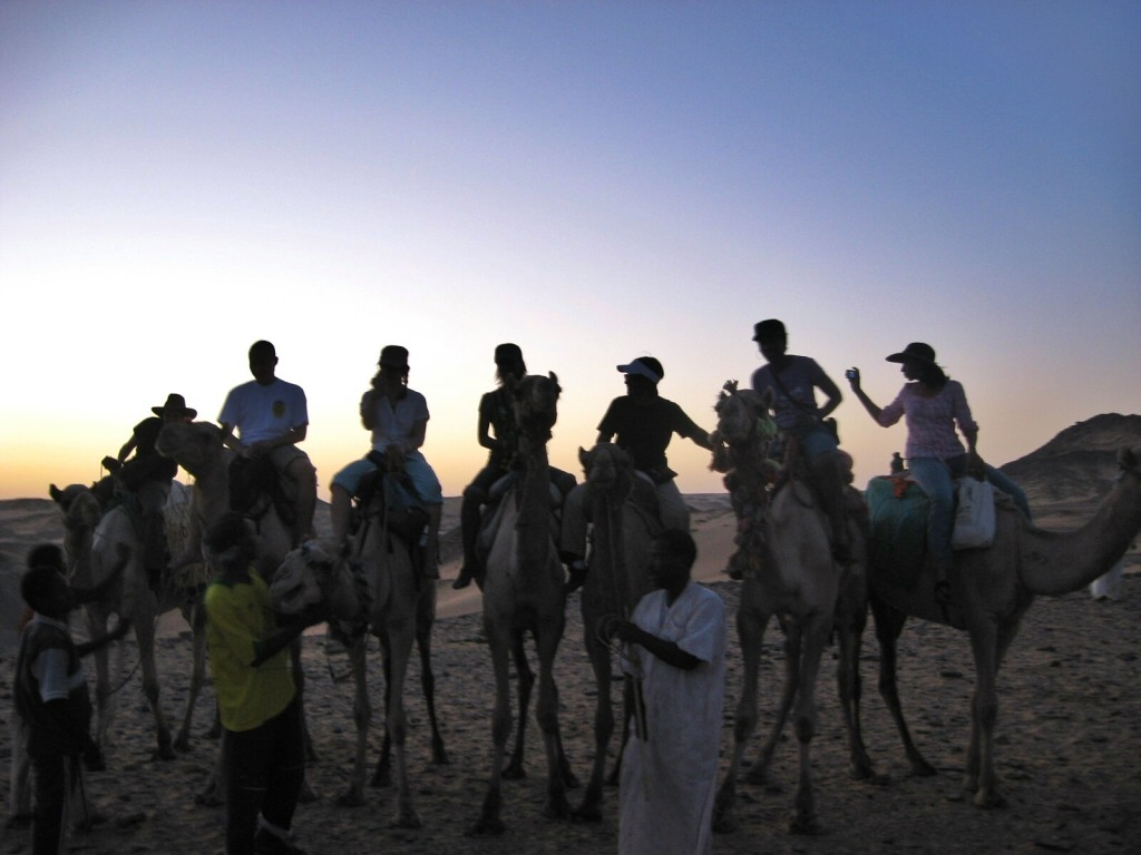 Camel ride in the Egyptian dessert