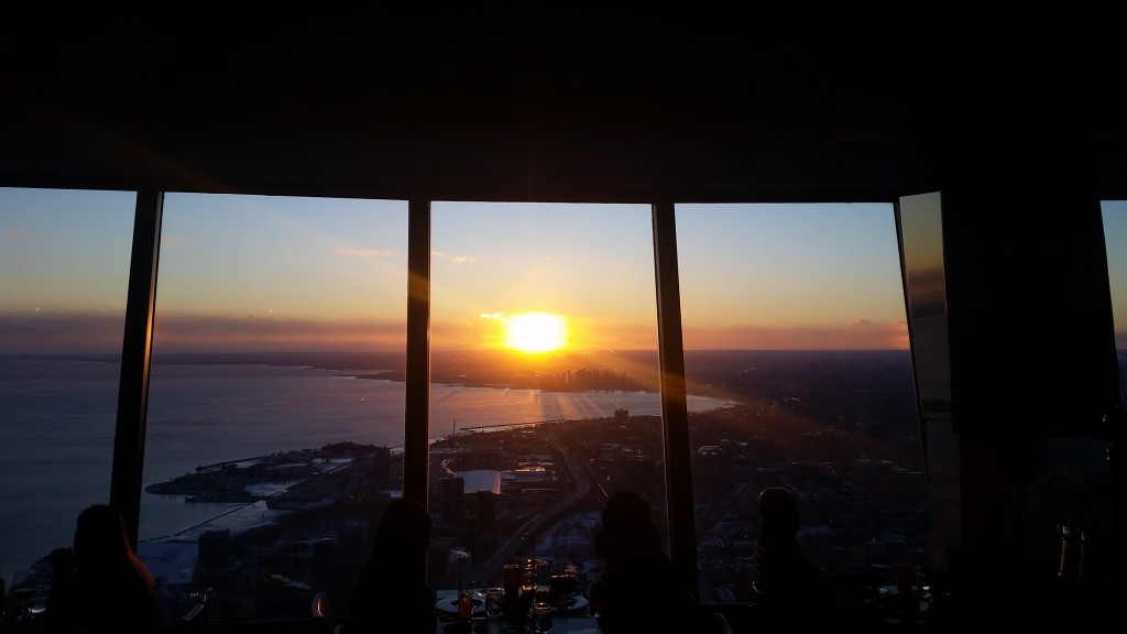 View from 360 Resturant, CN Tower Toronto