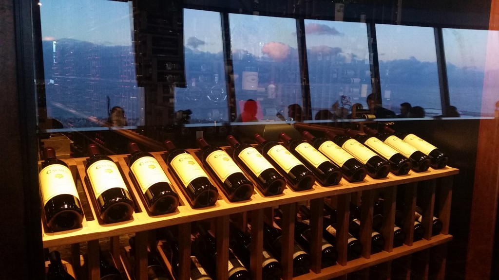 Wine cellar at 360 Restaurant, CN Tower, Toronto