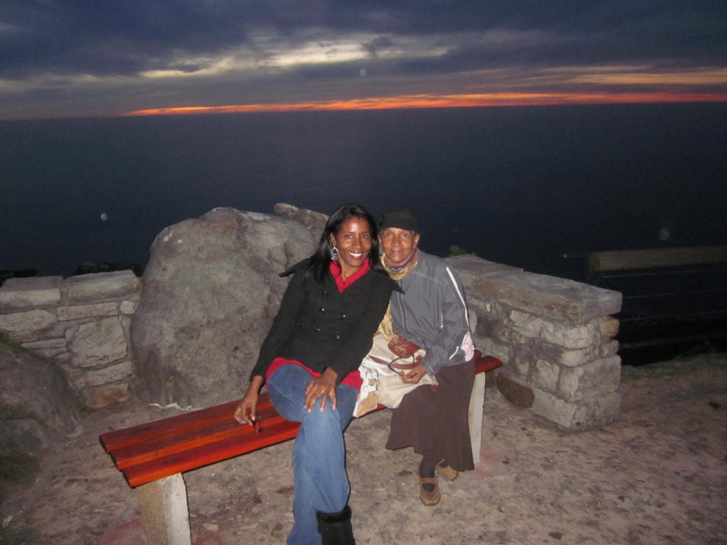 Sunset shot at Table Mountain, South Africa