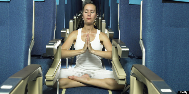 Who says you can't get your zen on inflight? (Getty image)