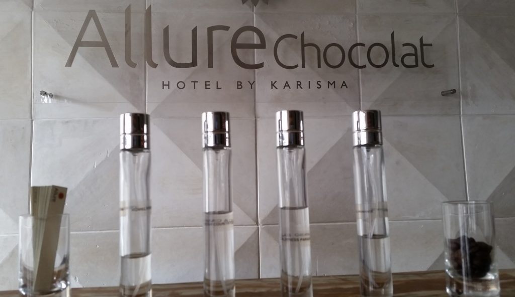 Aromatherapy choices at Allure Chocolat