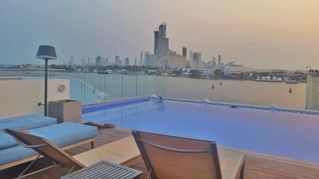Rooftop infinity pool at Allure Chocolat, Cartagena