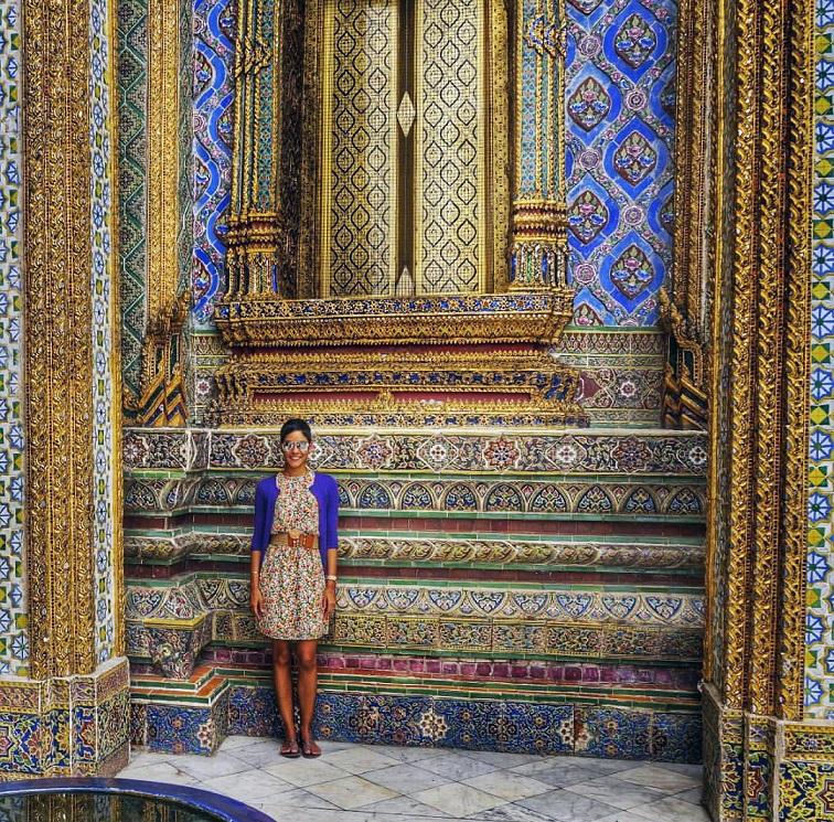 Outside the Grand Palace in Bangkok