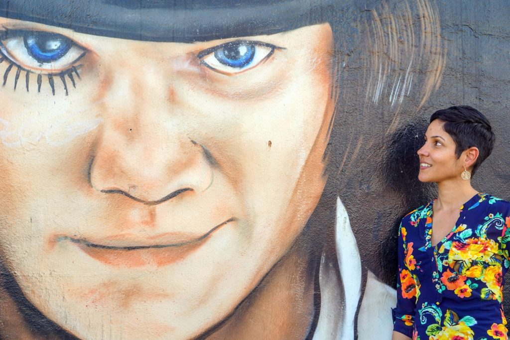 Checking out the street art in Wynwood Art District, Miami
