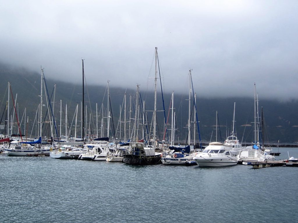 Boats in Hout Bay, South Africa