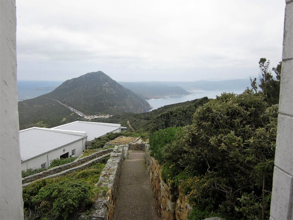 View from LIghthouse at Cape Point, South Africa