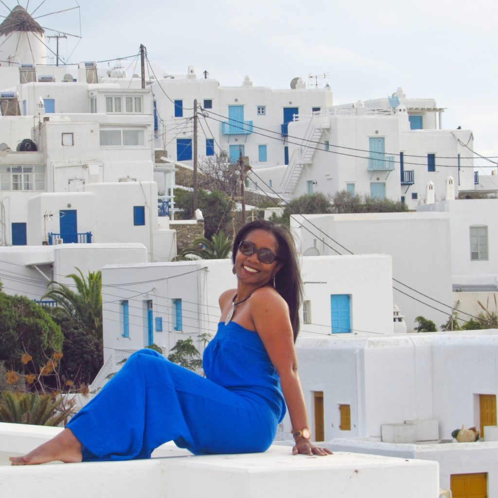 Blue on blue in Mykonos