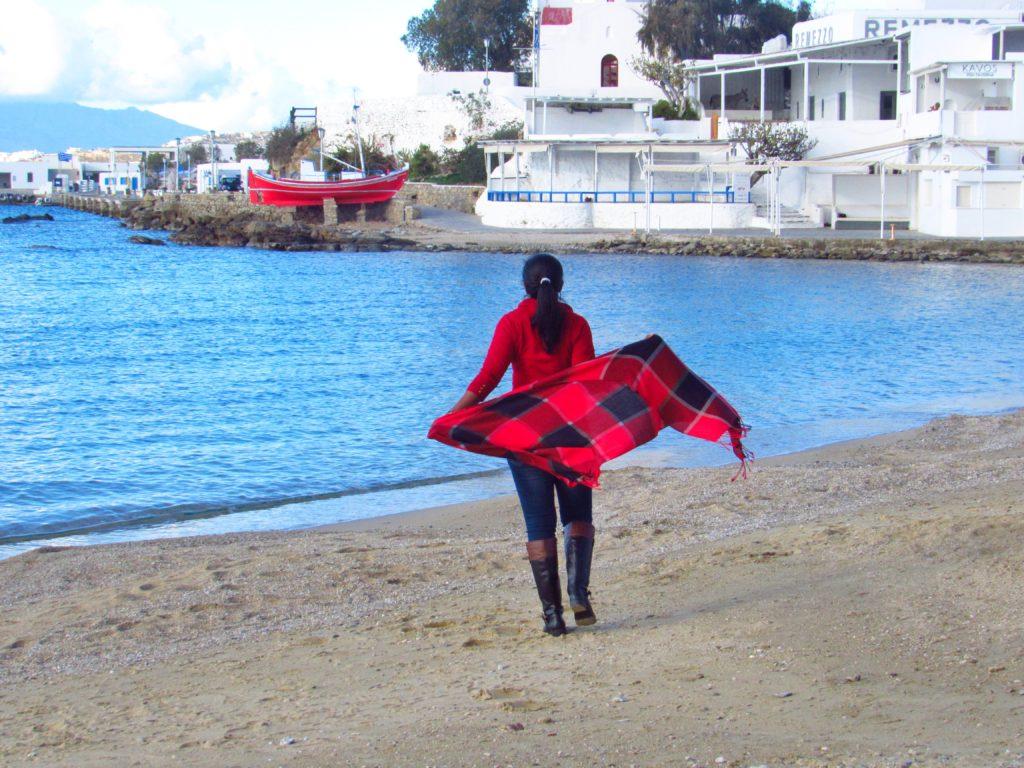 The Waterfront in Mykons, Greece