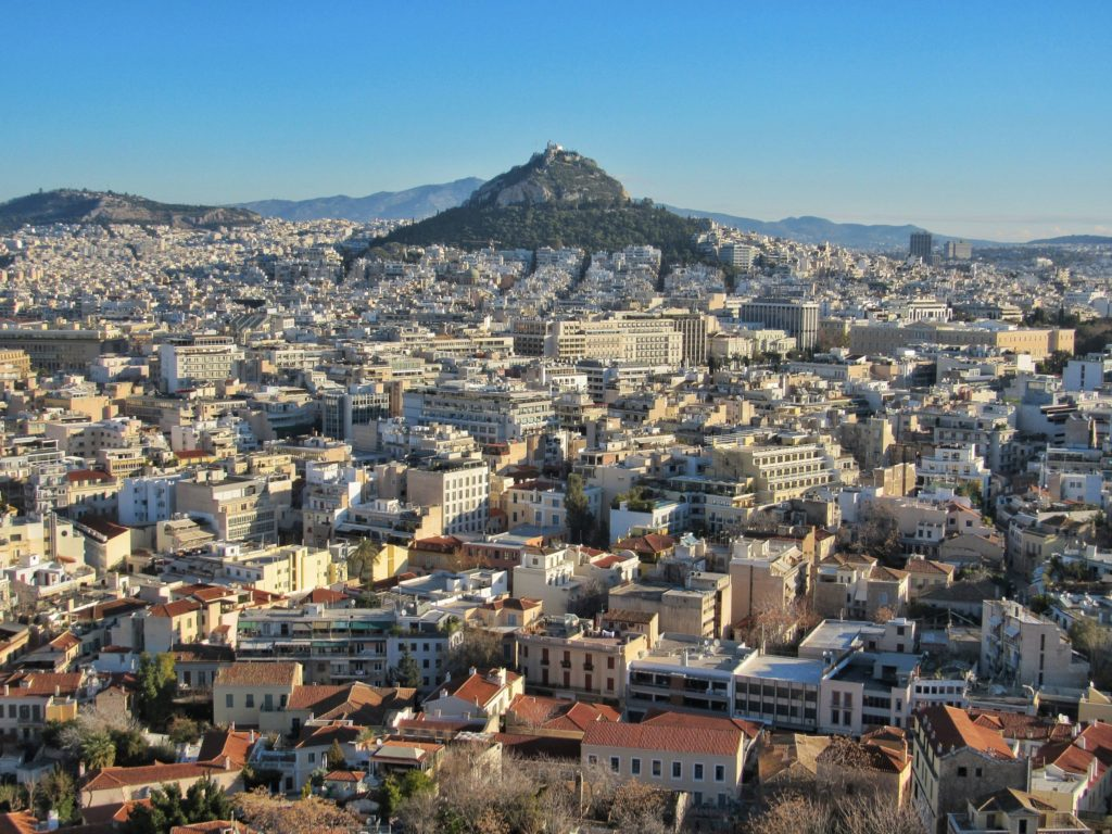 View of Athens from the Acropolis hill_Greece