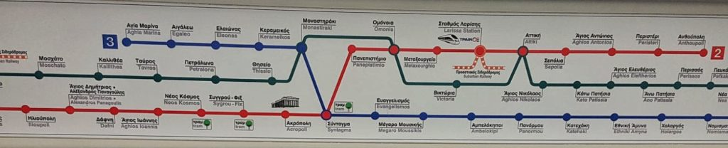 Metro Lines in Central Athens_Greece