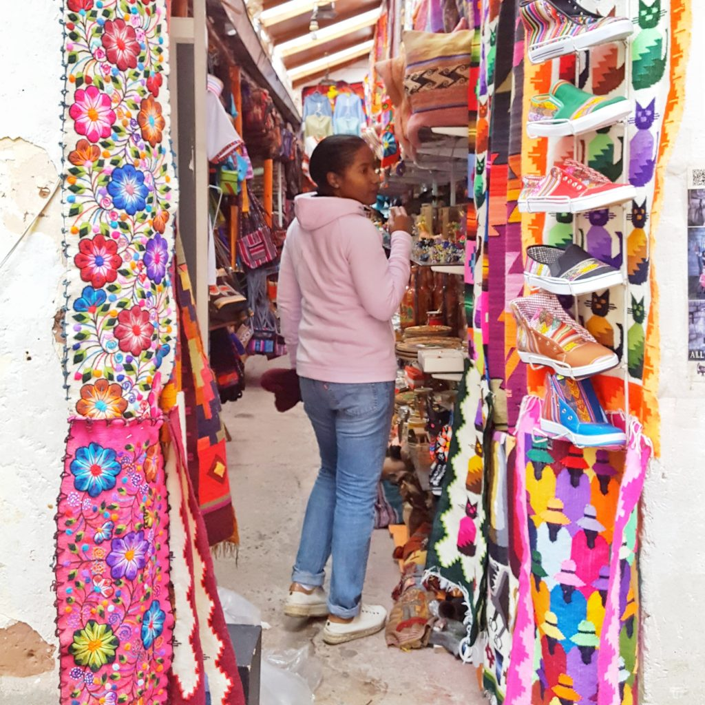 Colorful stall in Cusco market_Lima