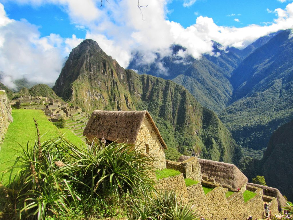 Thatch covered structures at Machu PIcchu_Peru