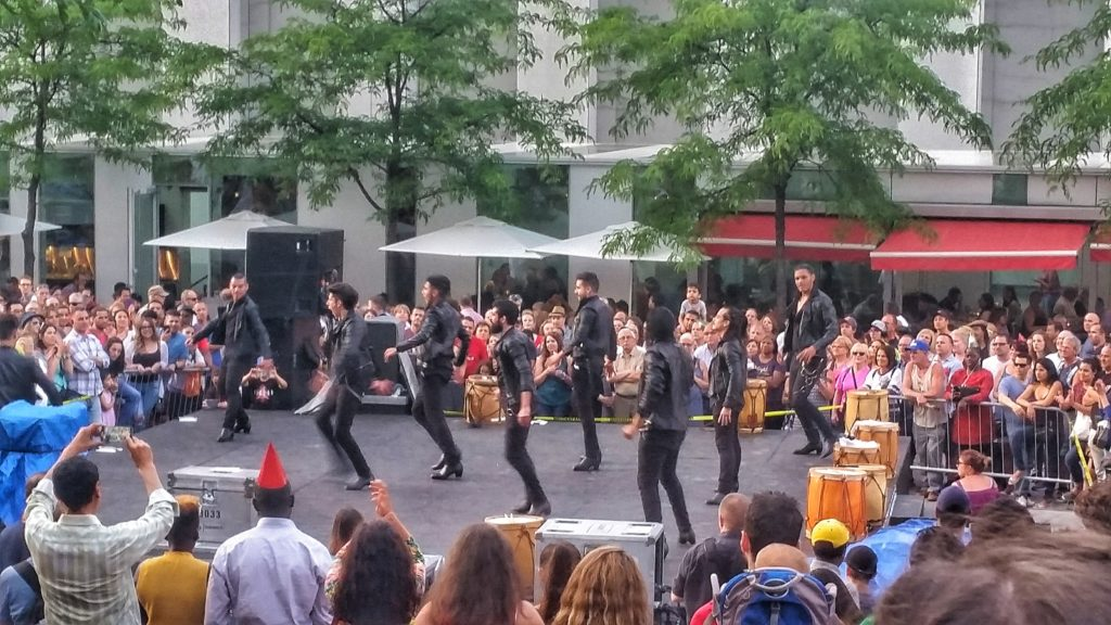 Festival performers in MOntreal, Canada