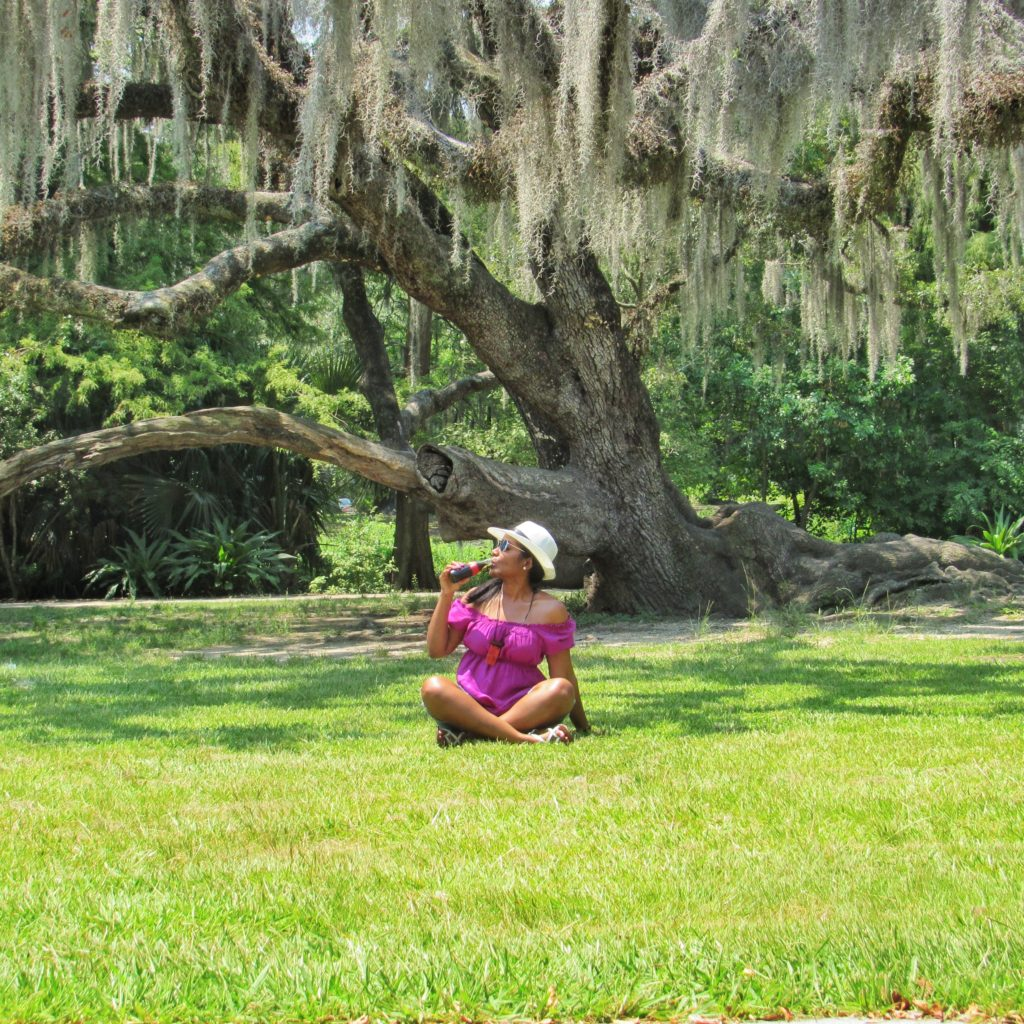 Relaxing in City Park, New Orleans