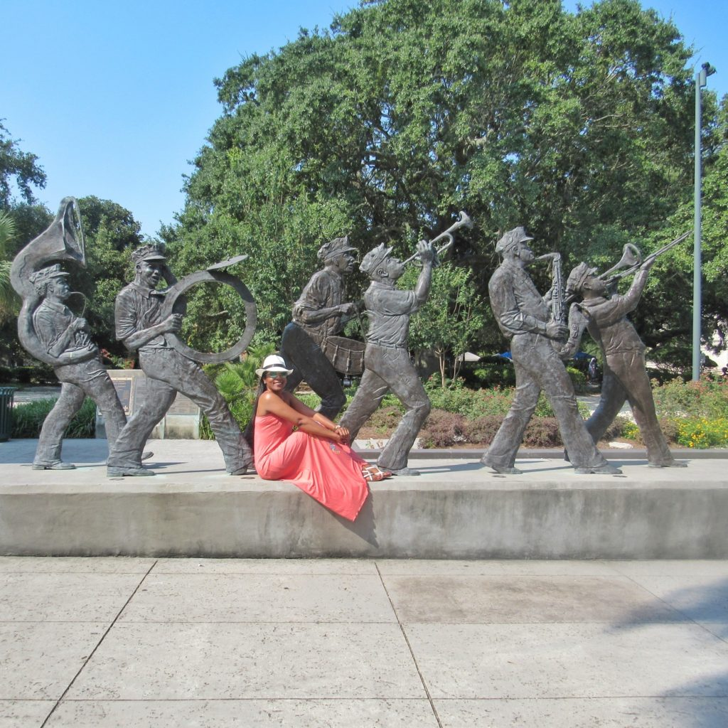 Jaz musician statues at ouis Armstrong Park_New Orleans