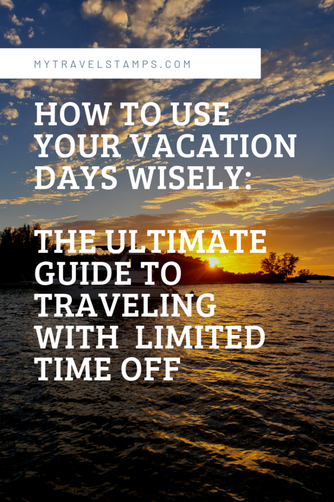 How to use your vacation dats wiselt